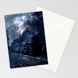 Next Stop Anywhere Classic Blue Stationery Cards