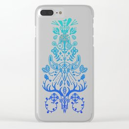 La Vie & La Mort – Blue Ombré Clear iPhone Case