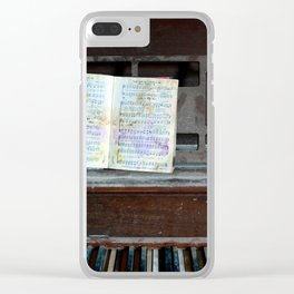 Abandoned Piano Clear iPhone Case