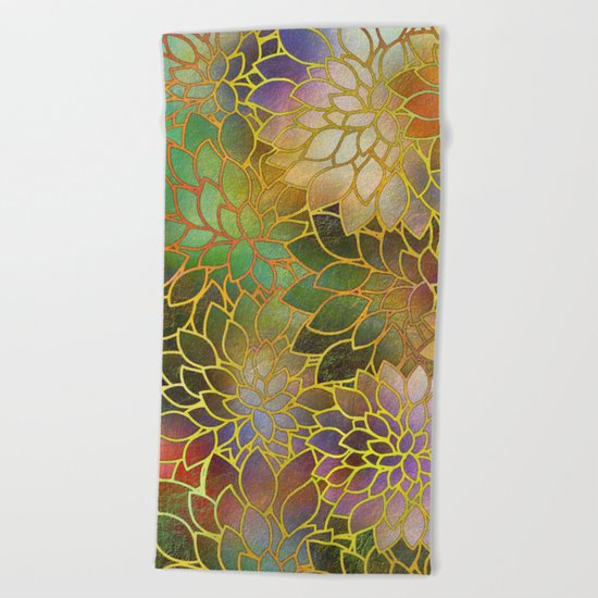 Floral Abstract 3 Beach Towel