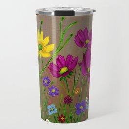 Spring Wild flowers  Travel Mug