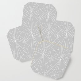 Art Deco on Grey - Large Scale Coaster