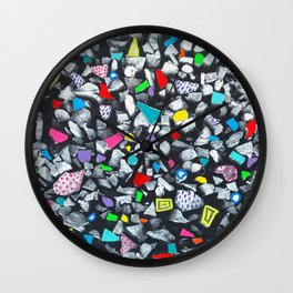 Wood and color Wall Clock