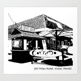 Cortado Coffee Bar Kauai Art Print