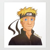 naruto Art Prints featuring Naruto by Shaungart