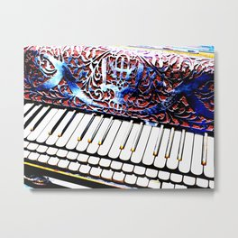 VINTAGE PIANO Metal Print