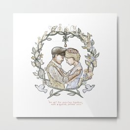 "Illustration from the video of the song by Wilder Adkins, ""When I'm Married"" (no names on it) Metal Print"