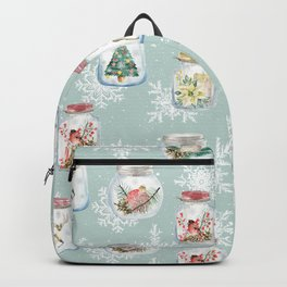 Christmas Jars Mint Backpack