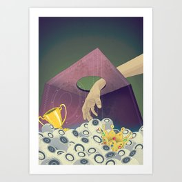 Looking  for the perfect beat Art Print