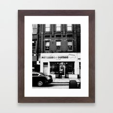 Pittsburgh Guitars Framed Art Print
