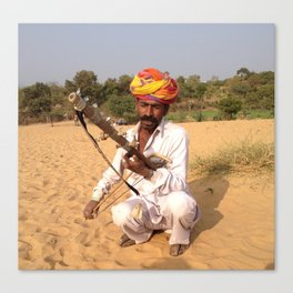 Rajastan Music Man Canvas Print