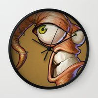 video games Wall Clocks featuring Triangles Video Games Heroes - EarthWorm Jim by s2lart