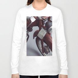 Fine art photography, old motorcycle, still life, vintage motorbike, Italy, mancave Long Sleeve T-shirt