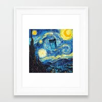 starry night Framed Art Prints featuring STARRY by MiliarderBrown