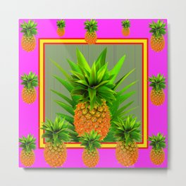 PINK HAWAIIAN PUNCH COLOR PINEAPPLE ART Metal Print