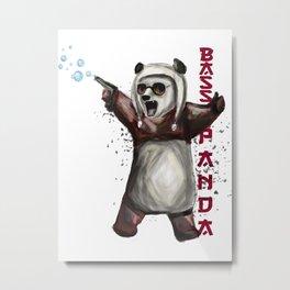 Bass Panda Metal Print