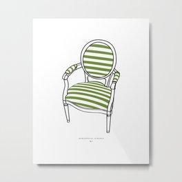 Striped Chair Print Metal Print
