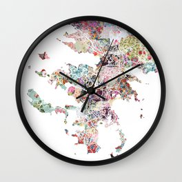 Noumea map Wall Clock