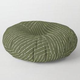 Lines (Olive Green) Floor Pillow