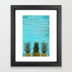 Pineapple summer Framed Art Print