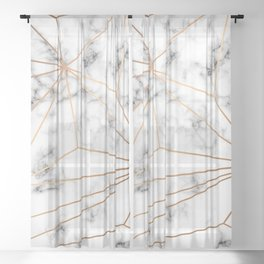 Marble & Gold 046 Sheer Curtain