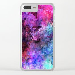 Purple Watercolor Clear iPhone Case
