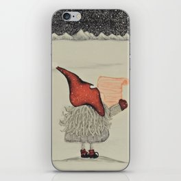 """Tomten Elmer's"" empty wishlist. iPhone Skin"