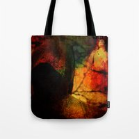 dragon age inquisition Tote Bags featuring Inquisition by Joe Ganech