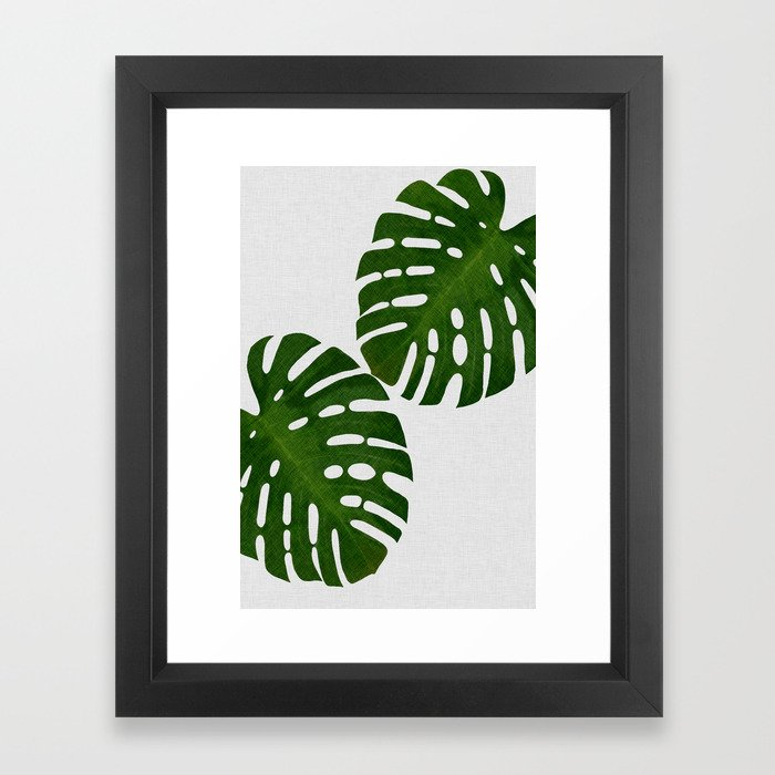 Monstera Leaf II Framed Art Print