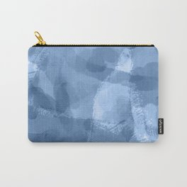 Ink Blue Watercolor Abstract Painting Carry-All Pouch