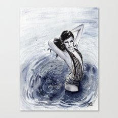 Blue Swim Canvas Print
