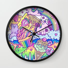 Kawaii Drip Wall Clock