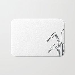 Paper-cut Cattail Bath Mat