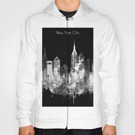 New York City Inverted Watercolor Skyline Hoody