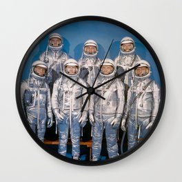 The First Astronauts Wall Clock