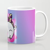 puppycat Mugs featuring A Chubby Puppycat by Kristin Frenzel