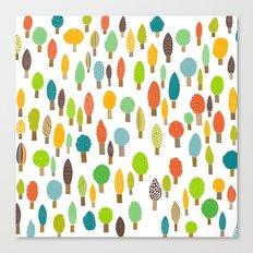 Wood U Colorful Canvas Print