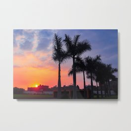 Peruvian Sunset Metal Print