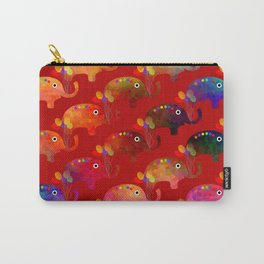 Colorful Elephants Carry-All Pouch