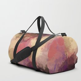 Modern Contemporary Ultra Violet Glow Abstract Duffle Bag