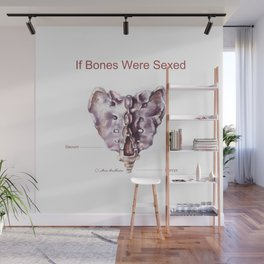 If Bones Were Sexed - Sacrum Wall Mural