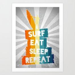 Surfing Lifestyle Art Print