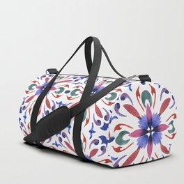 Floral ornament. Watercolor Duffle Bag