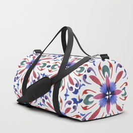 Floral ornament. Watercolor Duffle Bag