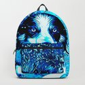 border collie jumping in water vector art crisp winter by gxp-design