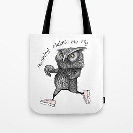 Running owl Tote Bag