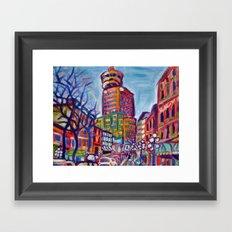 Harbour Centre From Gastown, Vancouver Framed Art Print