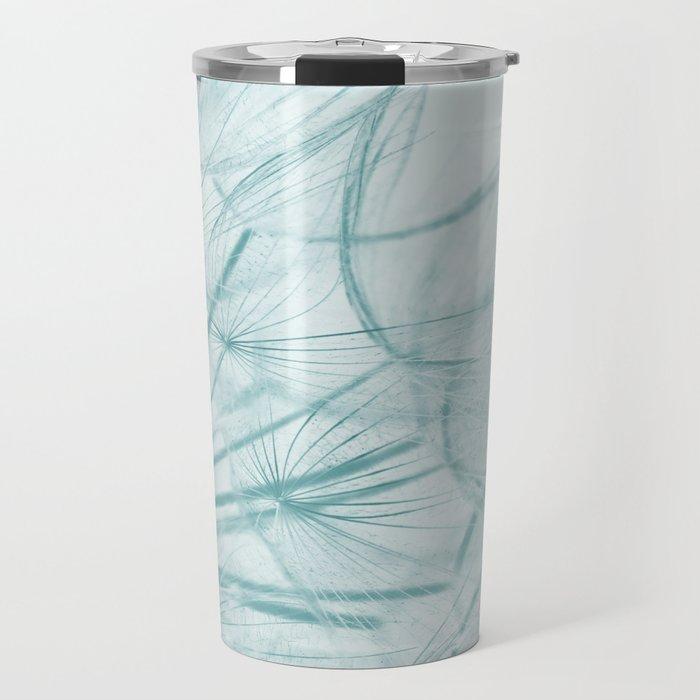 Dandelion In Blue Travel Mug