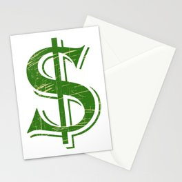 """""""Dollars"""" tee design. Perfect gift to your money lover friends and family. Go grab yours too!  Stationery Cards"""
