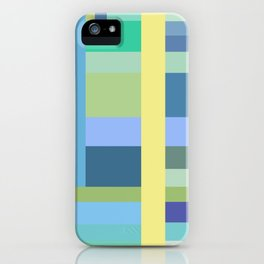 Abstract Blue Mint Green Geometry iPhone Case